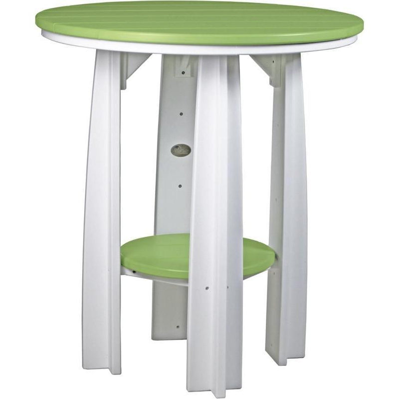 "Outdoor 36"" Balcony Table Lime Green & White"