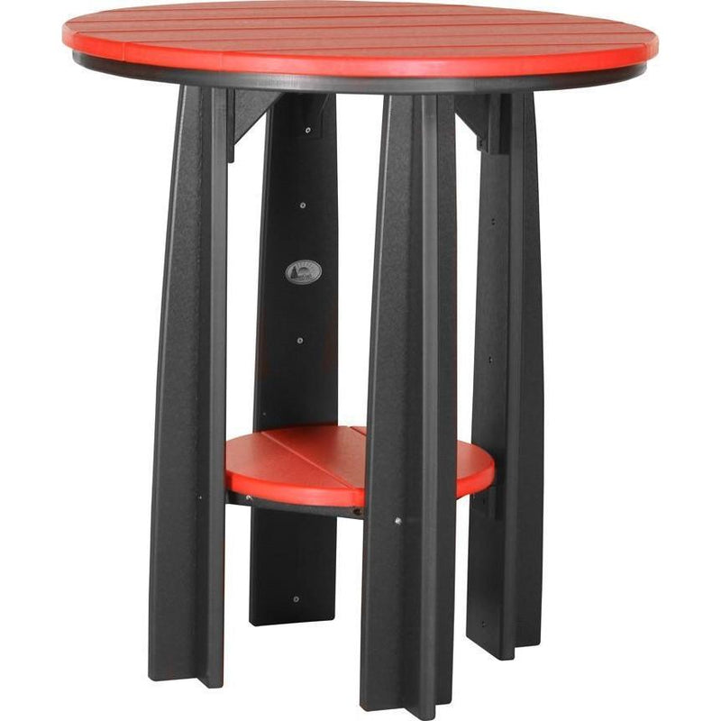 "Outdoor 36"" Balcony Table Red & Black"