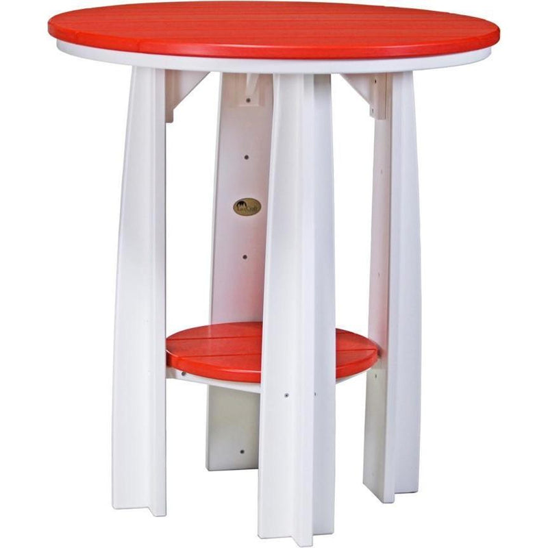 "Outdoor 36"" Balcony Table Red & White"
