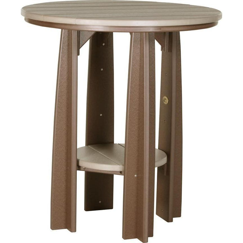 "Outdoor 36"" Balcony Table Weatherwood & Chestnut Brown"