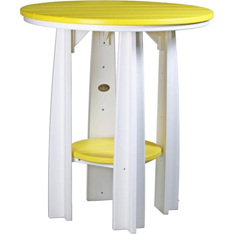 "Outdoor 36"" Balcony Table Yellow & White"