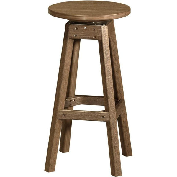 Outdoor Poly Bar Stool Antique Mahogany
