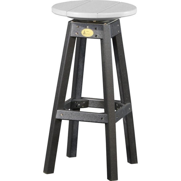 Outdoor Poly Bar Stool Dove Grey & Black
