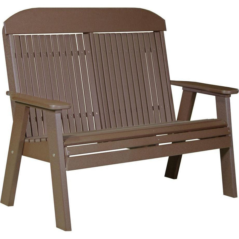 Classic Outdoor 4' Bench Chestnut Brown