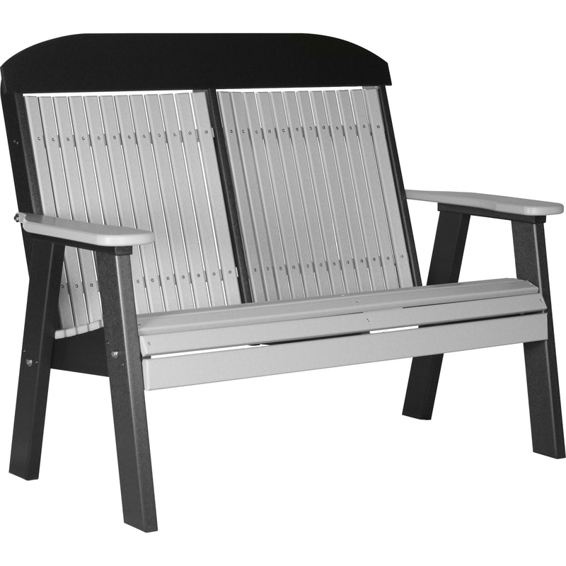 Classic Outdoor 4' Bench Dove Grey & Black