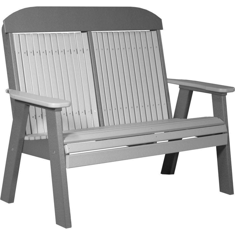 Classic Outdoor 4' Bench Dover Grey & Slate