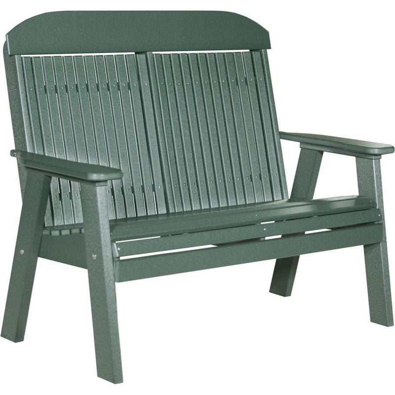Classic Outdoor 4' Bench Green