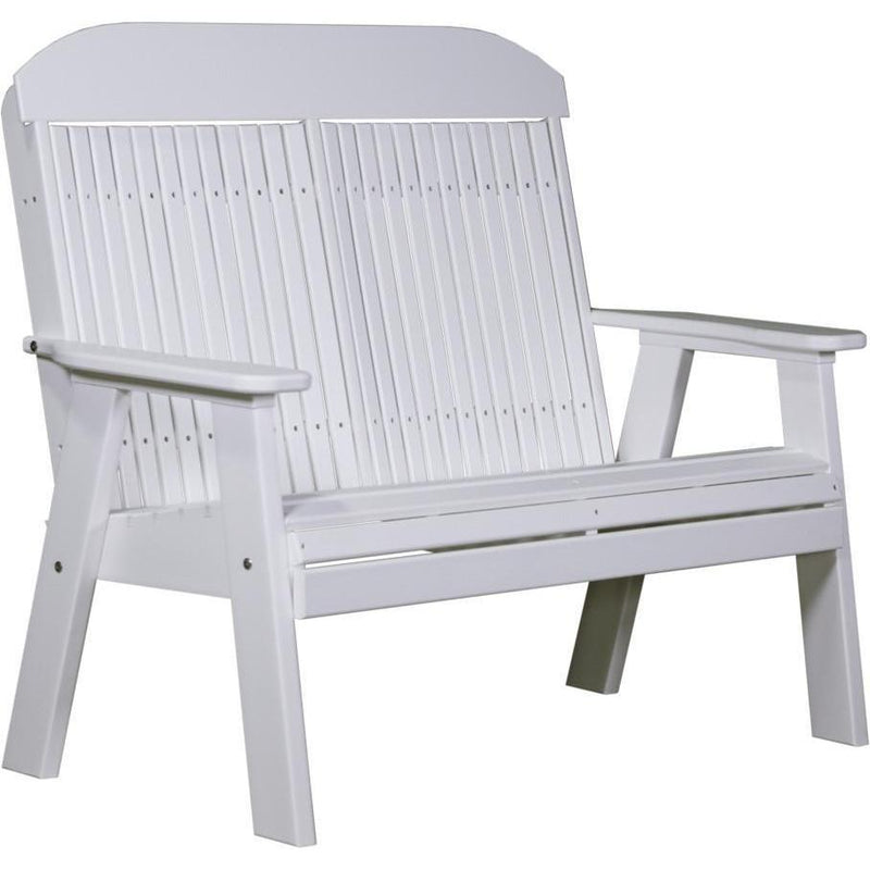 Classic Outdoor 4' Bench White