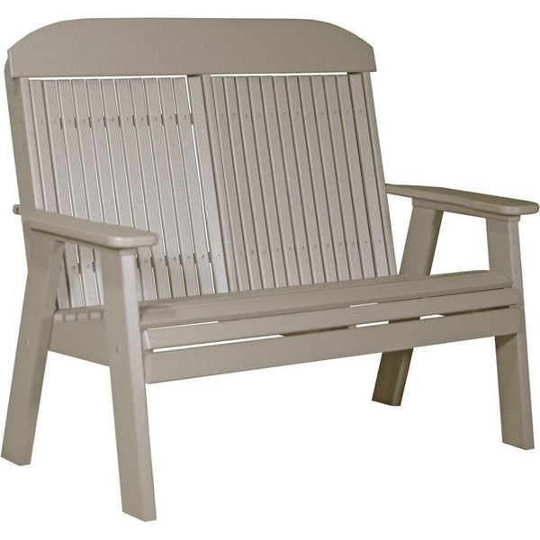 Classic Outdoor 4' Bench Weatherwood