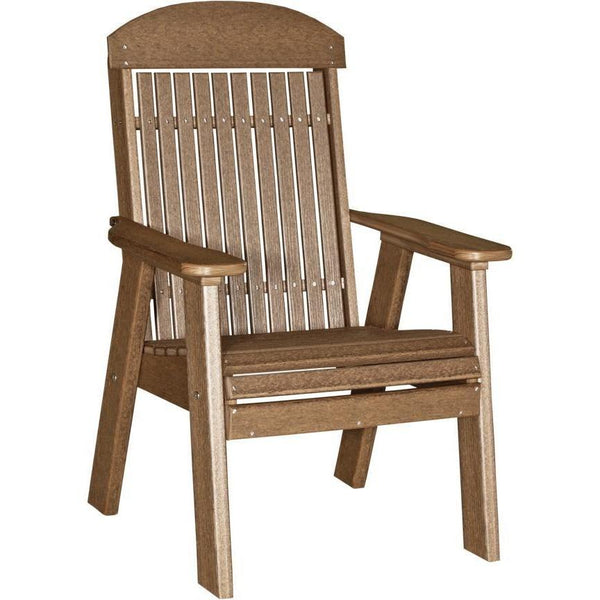 Classic Outdoor Bench Chair Antique Mahogany