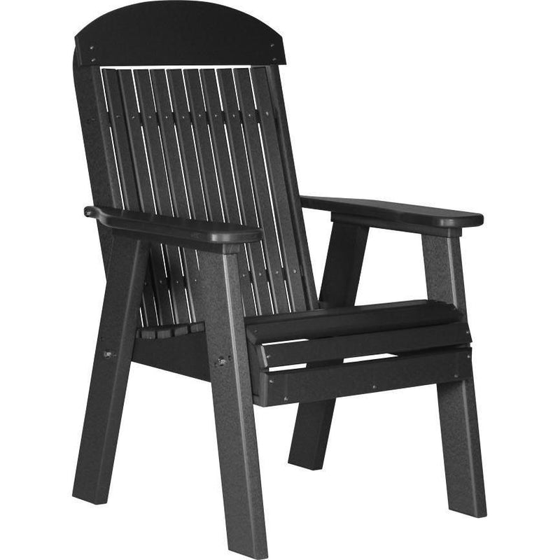 Classic Outdoor Bench Chair Black