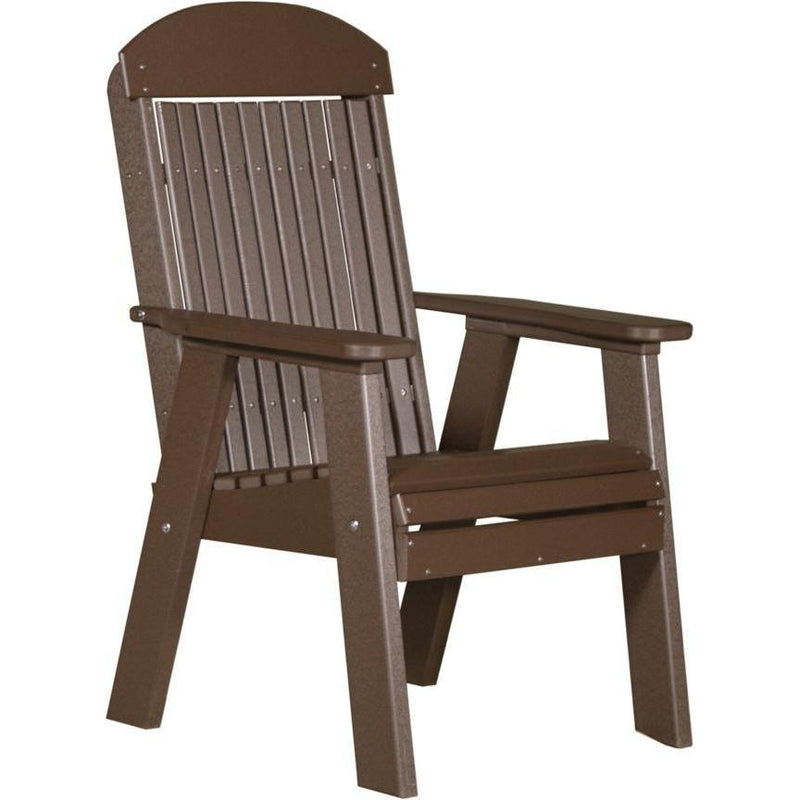 Classic Outdoor Bench Chair Chestnut Brown