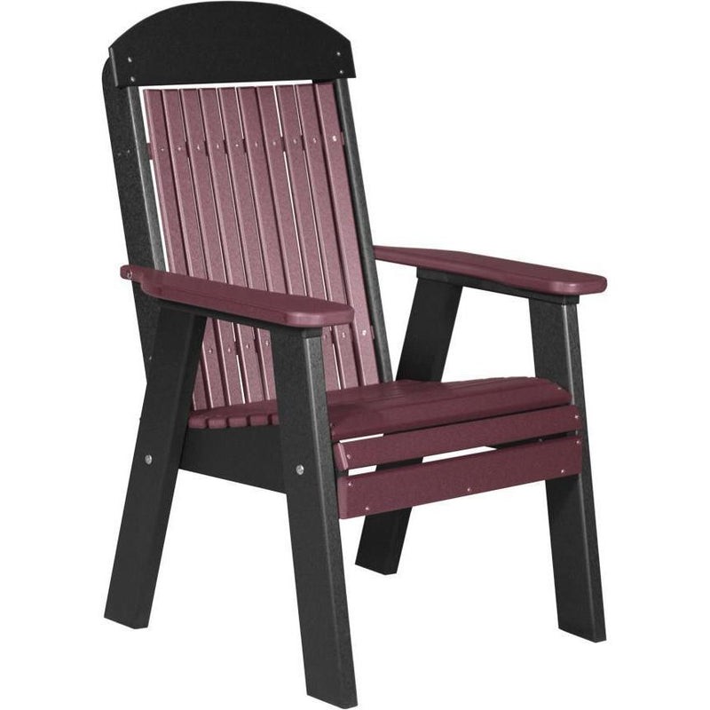Classic Outdoor Bench Chair Cherrywood & Black