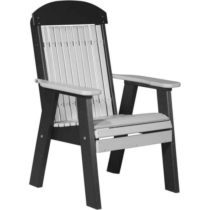 Classic Outdoor Bench Chair Dove Grey & Black