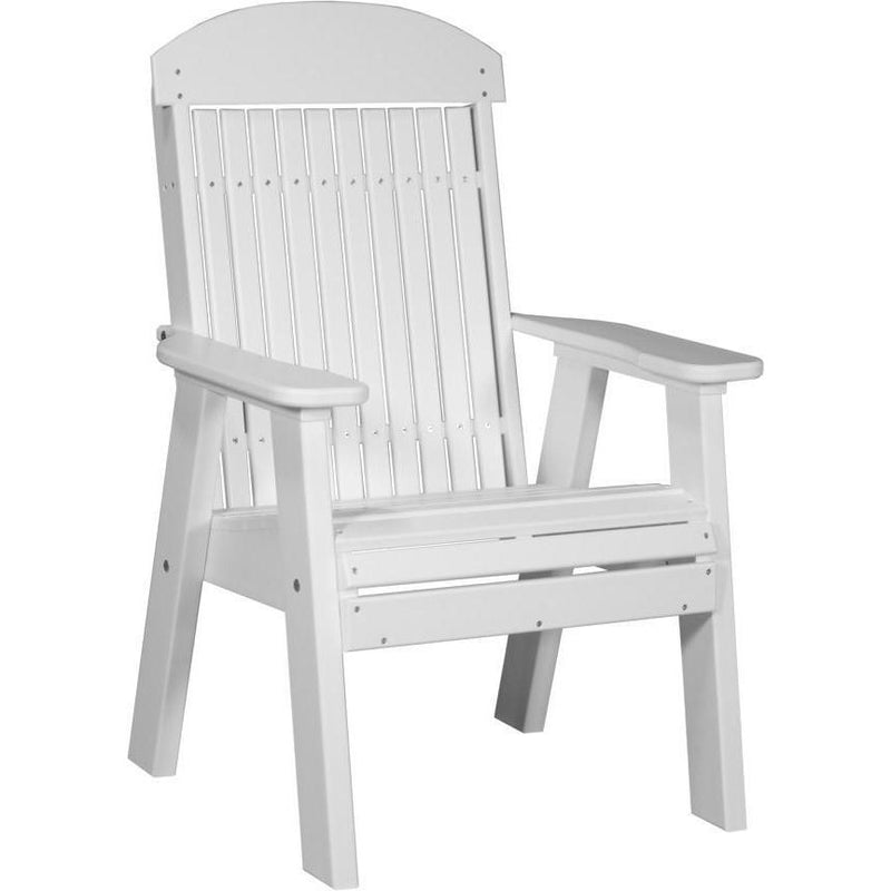 Classic Outdoor Bench Chair White
