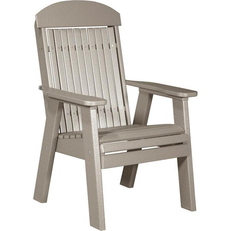 Classic Outdoor Bench Chair Weatherwood