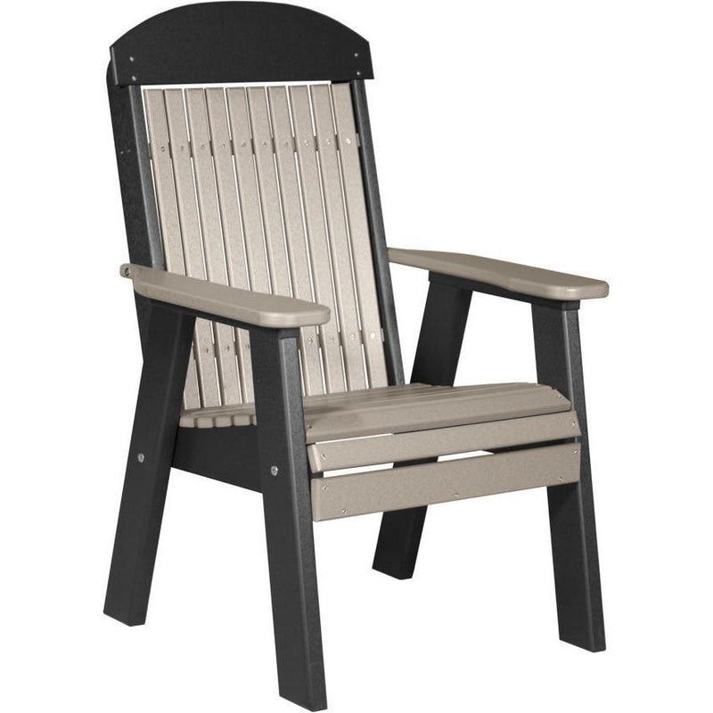 Classic Outdoor Bench Chair Weatherwood & Black