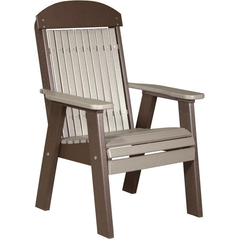 Classic Outdoor Bench Chair Weatherwood & Chestnut Brown