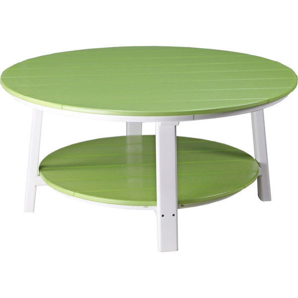 Outdoor Deluxe Conversation Table Lime Green & White