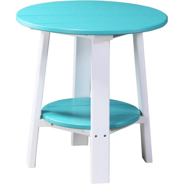 Outdoor Deluxe End Table Aruba Blue & White