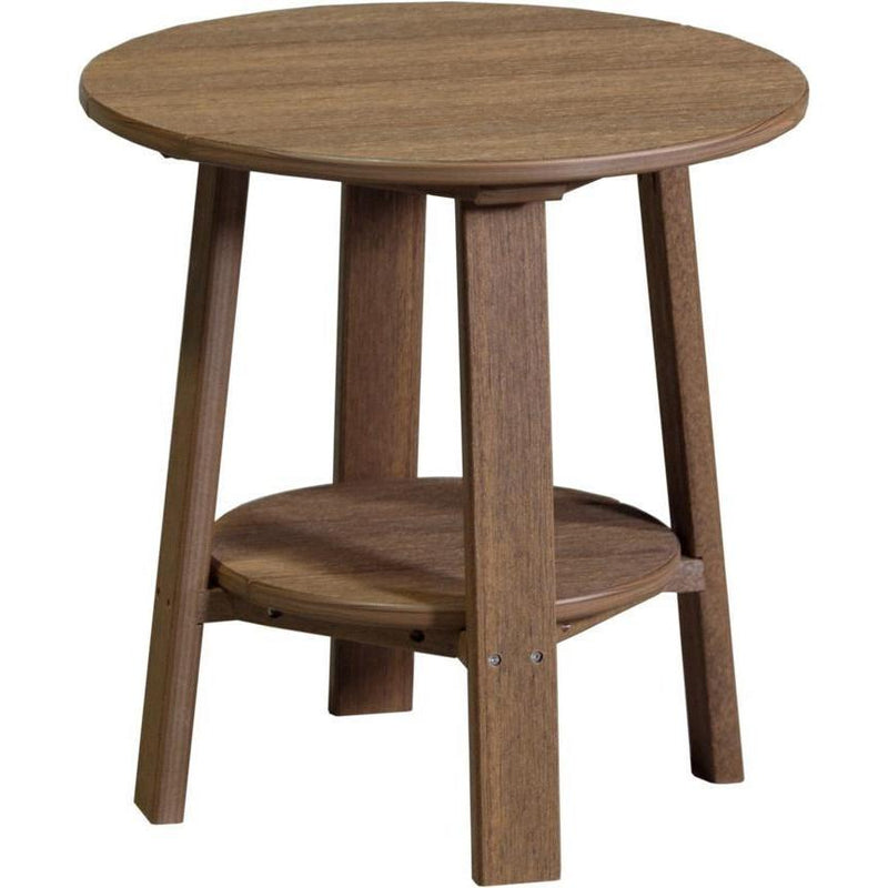 Outdoor Deluxe End Table Antique Mahogany
