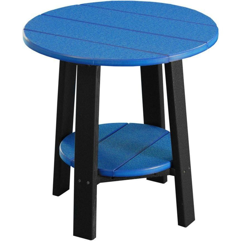 Outdoor Deluxe End Table Blue & Black
