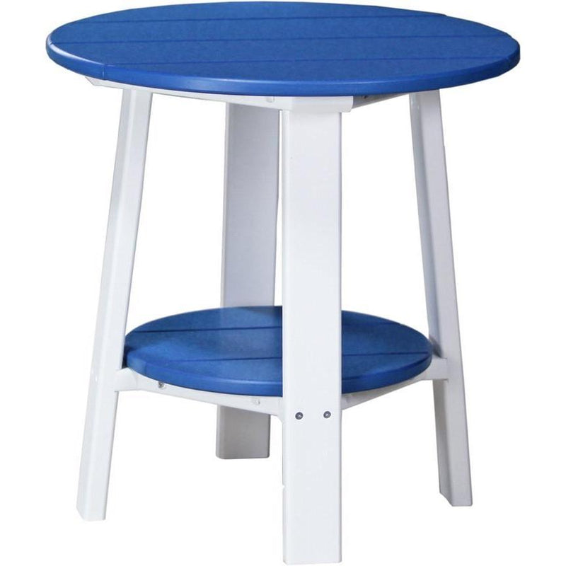 Outdoor Deluxe End Table Blue & White