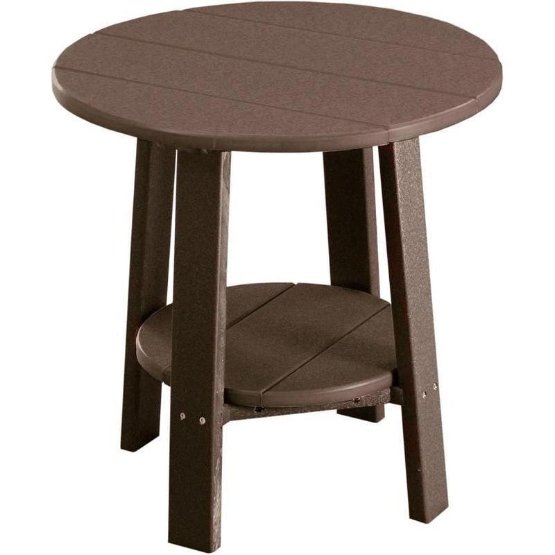 Outdoor Deluxe End Table Chestnut Brown