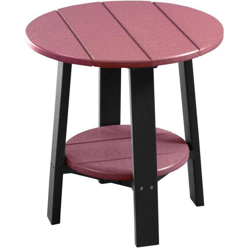 Outdoor Deluxe End Table Cherrywood & Black