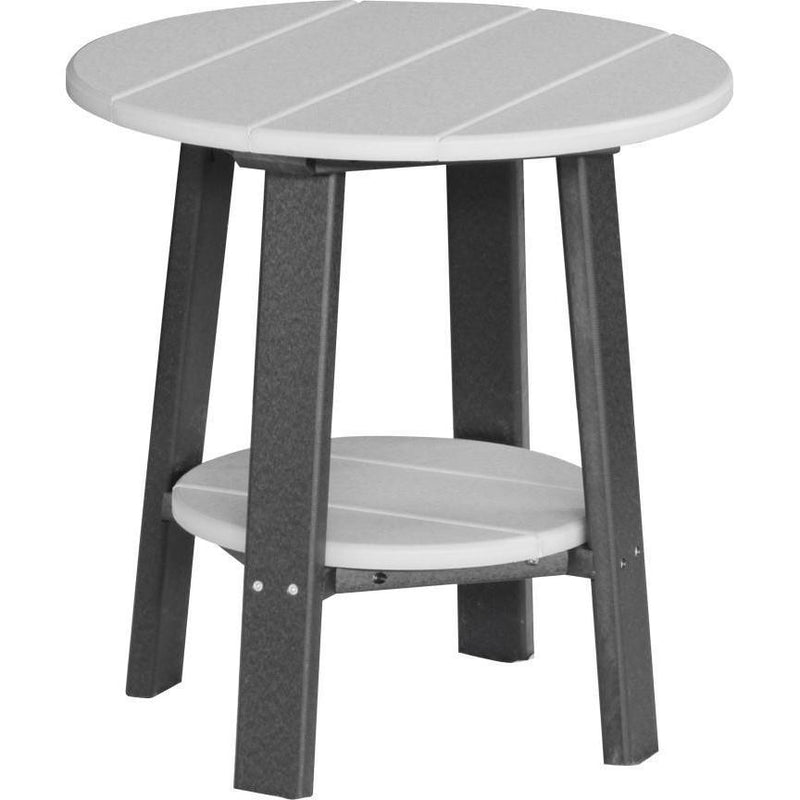 Outdoor Deluxe End Table Dove Grey & Black