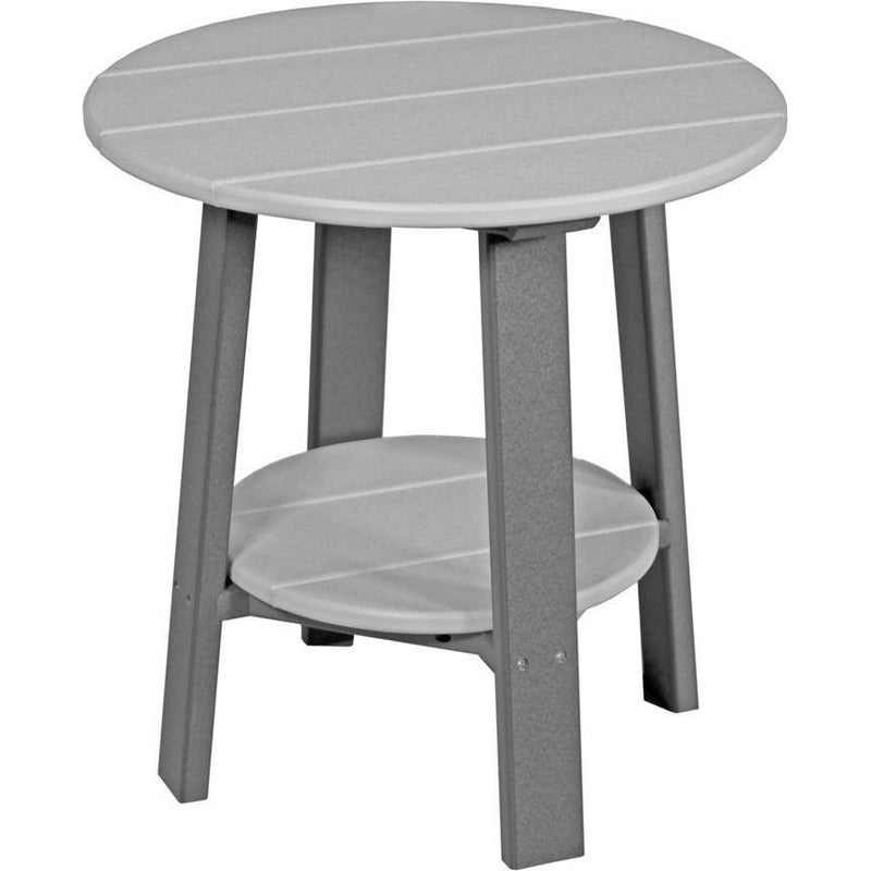 Outdoor Deluxe End Table Dove Grey & Slate