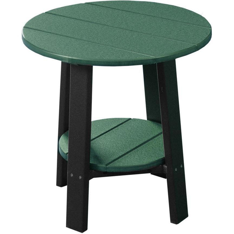 Outdoor Deluxe End Table Green & Black