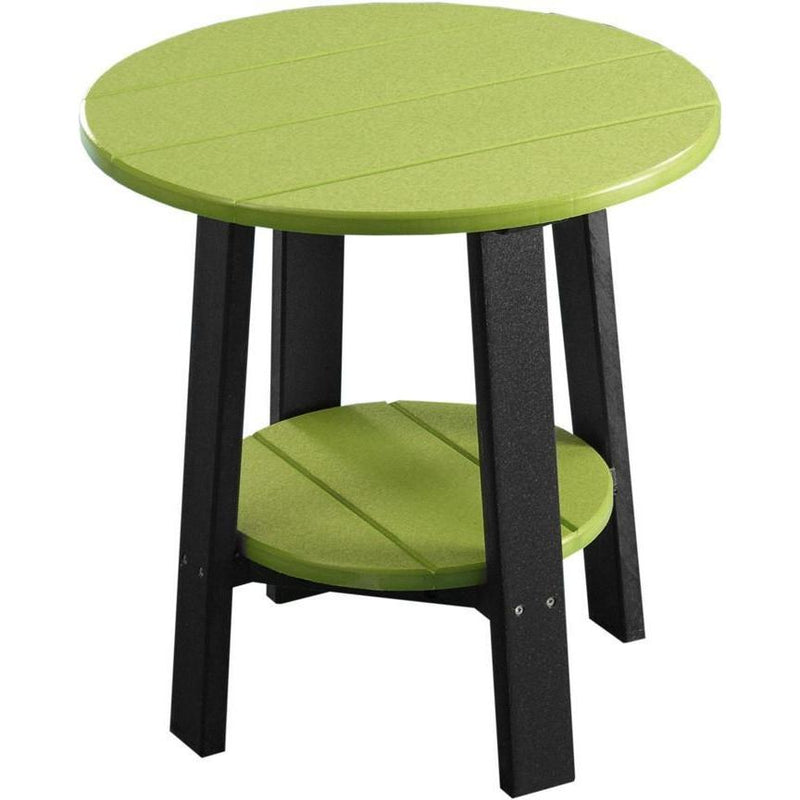 Outdoor Deluxe End Table Lime Green & Black
