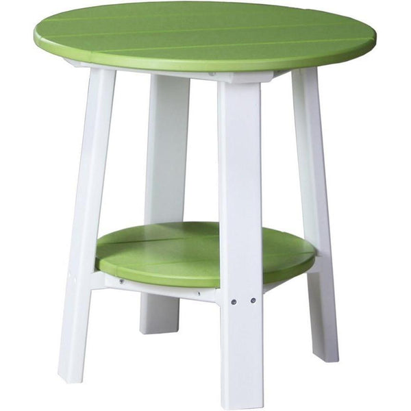 Outdoor Deluxe End Table Lime Green & White