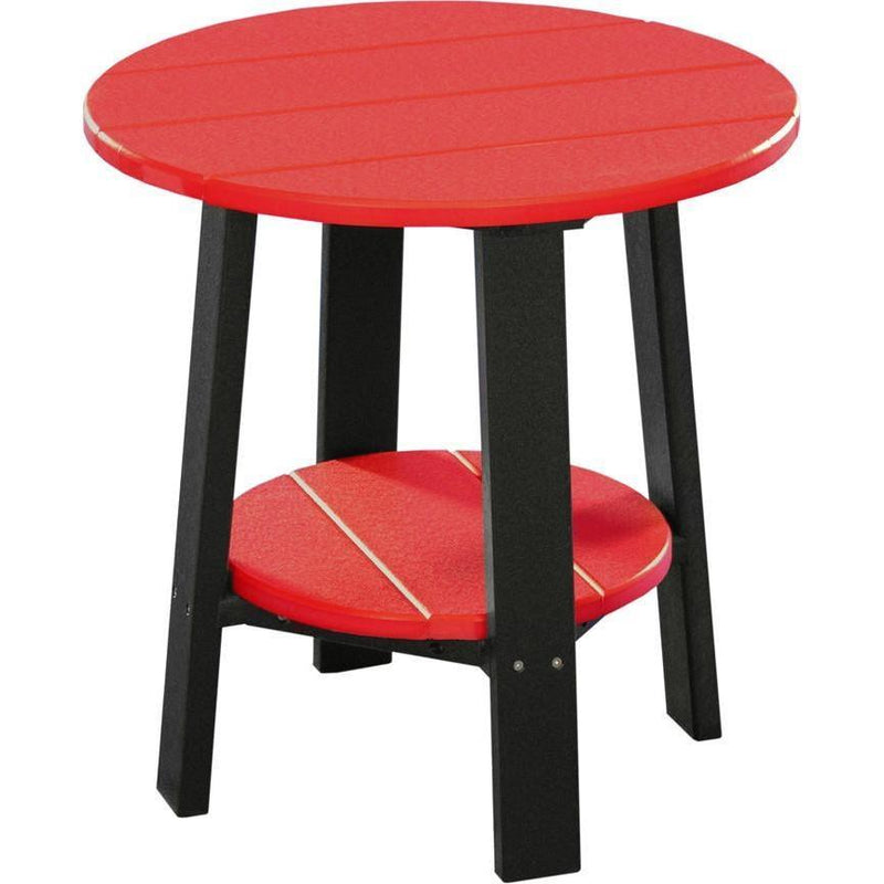 Outdoor Deluxe End Table Red & Black