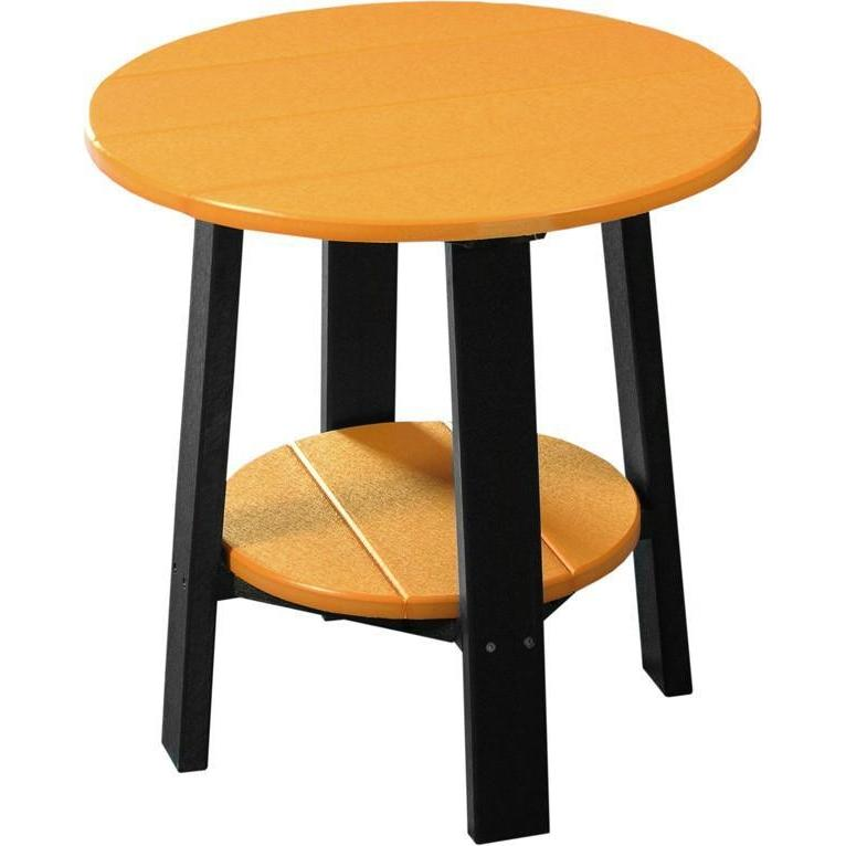 Outdoor Deluxe End Table Tangerine & Black