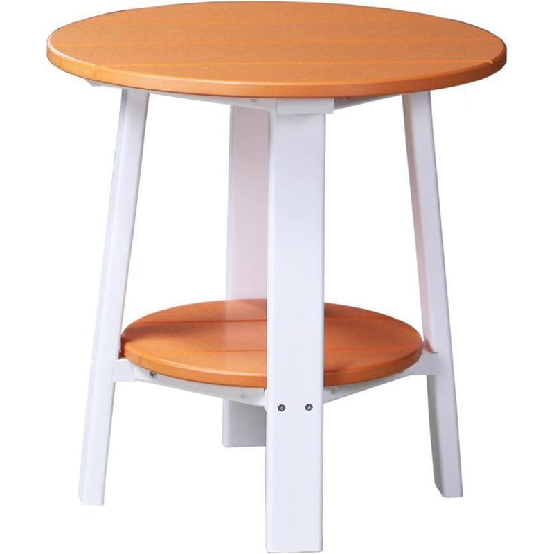 Outdoor Deluxe End Table Tangerine & White