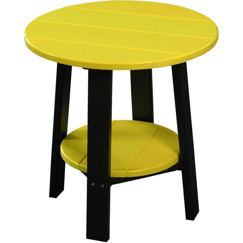 Outdoor Deluxe End Table Yellow & Black