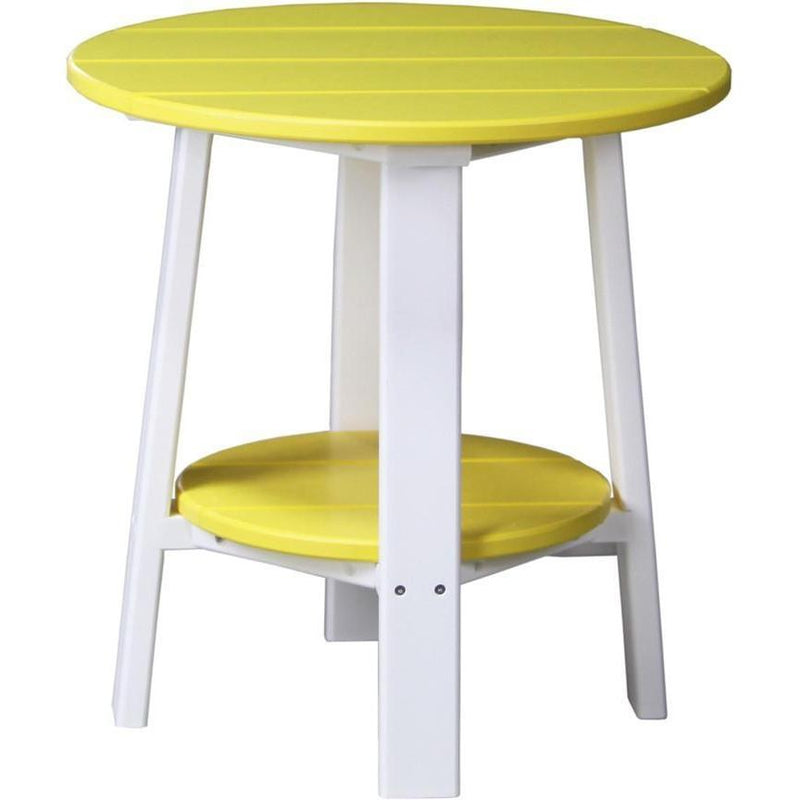 Outdoor Deluxe End Table Yellow & White