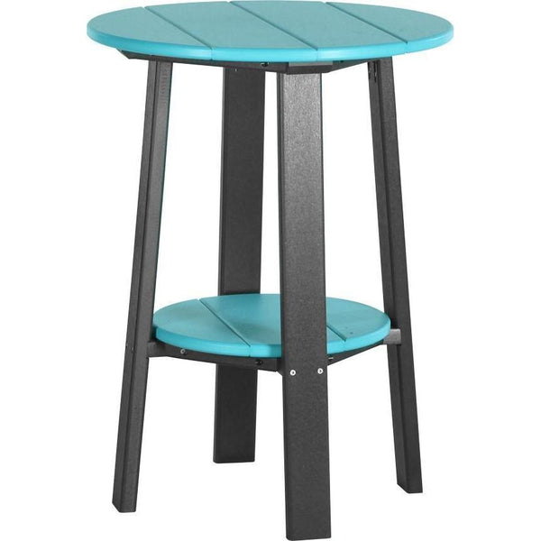 "Outdoor 28"" Deluxe End Table   Aruba Blue & Black"