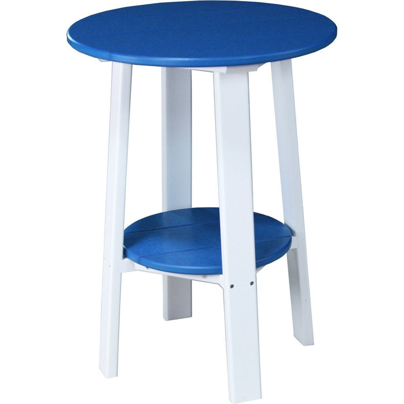 "Outdoor 28"" Deluxe End Table   Blue & White"