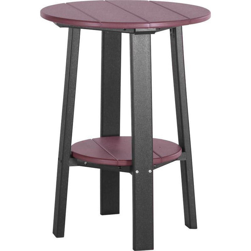 "Outdoor 28"" Deluxe End Table   Cherrywood & Black"