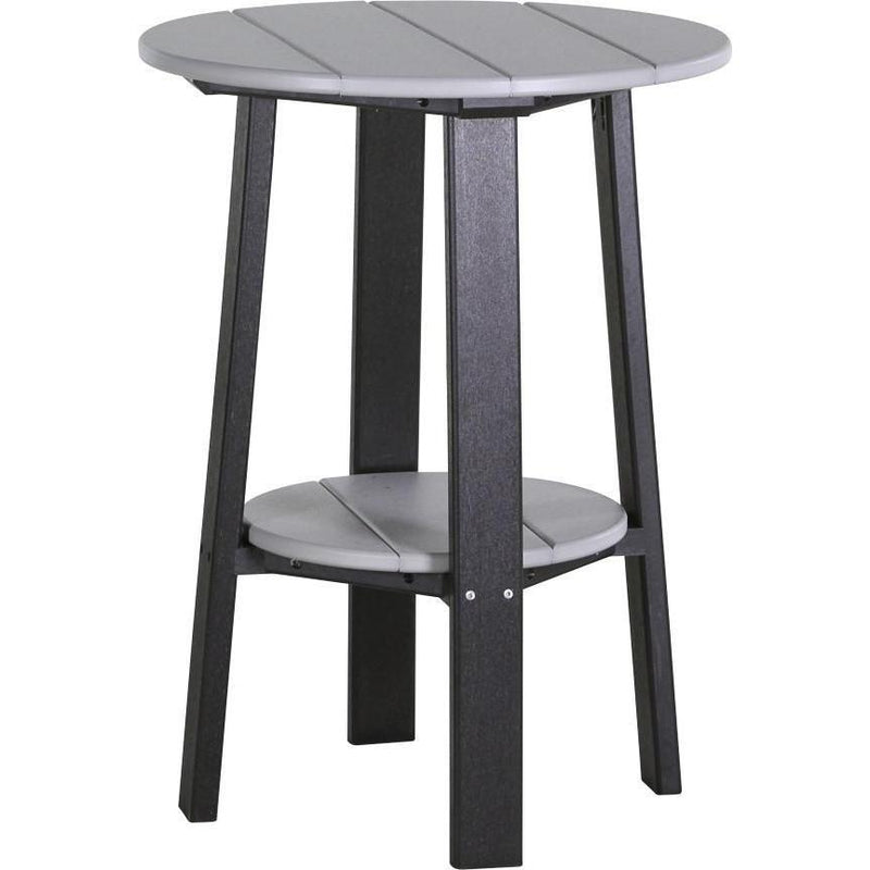 "Outdoor 28"" Deluxe End Table   Dove Grey & Black"