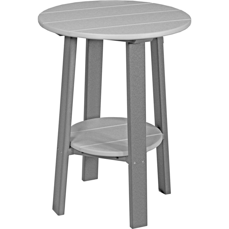 "Outdoor 28"" Deluxe End Table   Dove Grey & Slate"