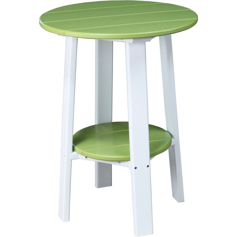 "Outdoor 28"" Deluxe End Table   Lime Green & White"
