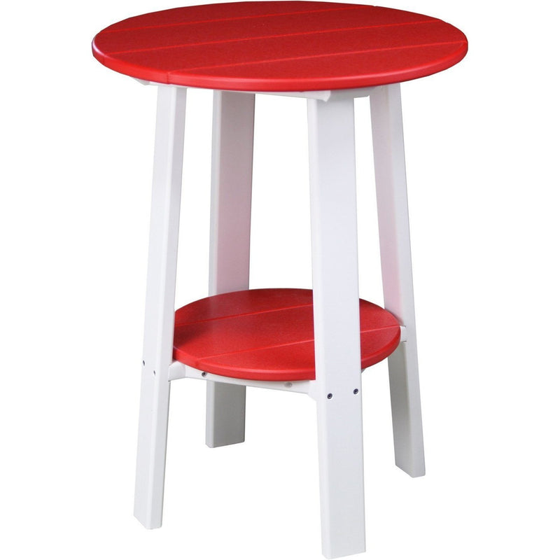 "Outdoor 28"" Deluxe End Table   Red & White"