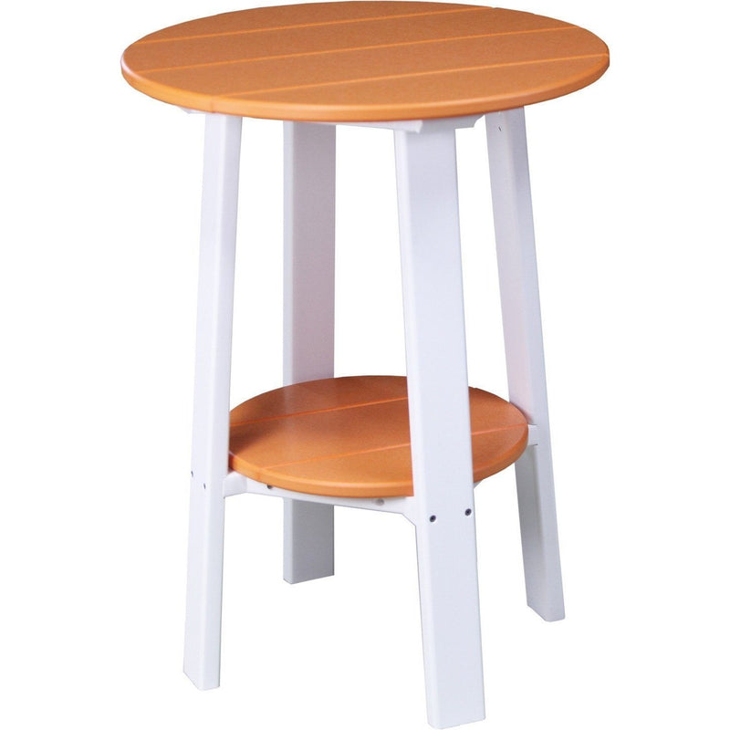 "Outdoor 28"" Deluxe End Table   Tangerine & White"