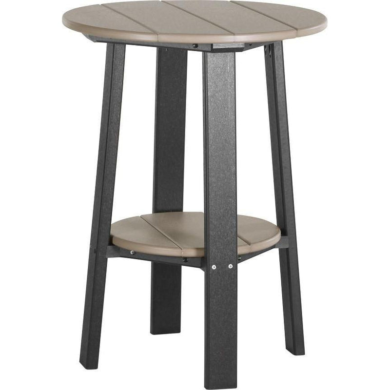 "Outdoor 28"" Deluxe End Table   Weatherwood & Black"