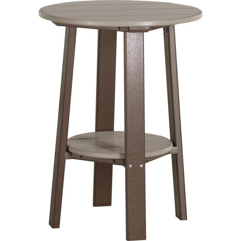 "Outdoor 28"" Deluxe End Table   Weatherwood & Chestnut Brown"