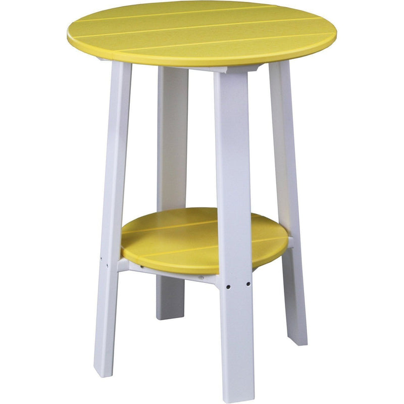 "Outdoor 28"" Deluxe End Table   Yellow & White"